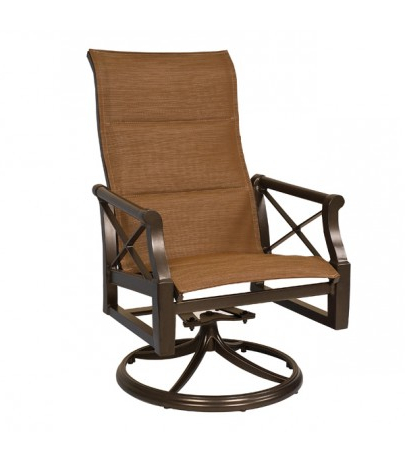 Woodard Andover High Back Padded Sling Swivel Rocker With Regard To Well Liked Padded Sling High Back Swivel Chairs (View 3 of 20)