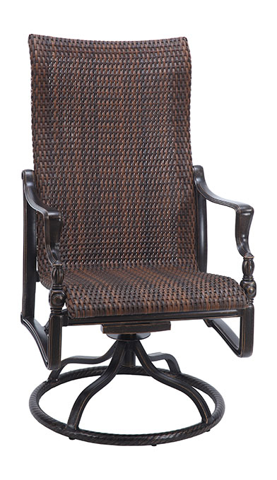 Woven High Back Swivel Chairs Inside Most Recently Released Bel Airgensun Luxury Cast Aluminum Patio Furniture Woven (View 14 of 20)