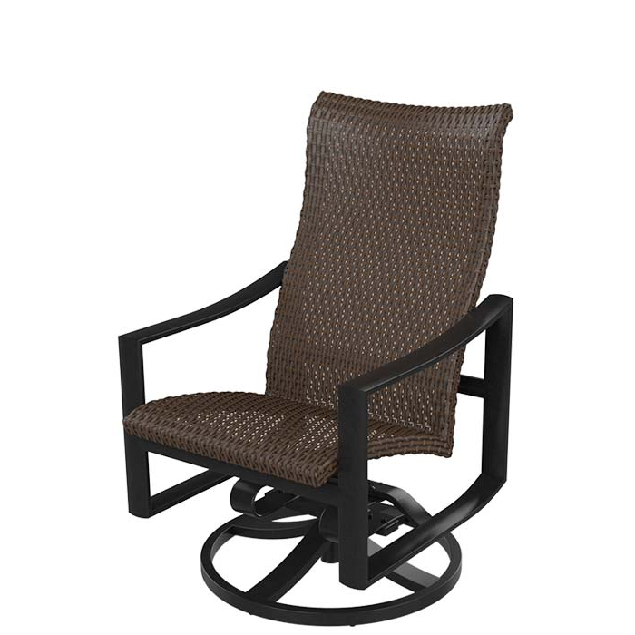 Woven High Back Swivel Chairs With Latest Kenzo Woven High Back Swivel Rocker (View 17 of 20)