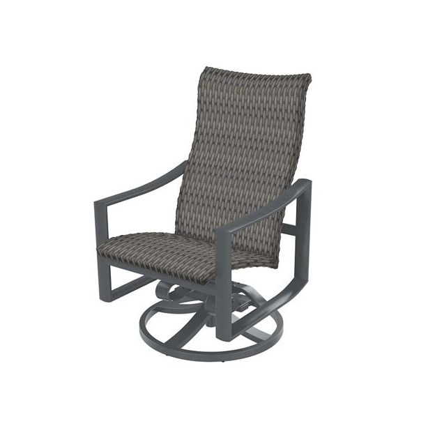 Woven High Back Swivel Chairs With Most Up To Date Kenzo Woven High Back Swivel Rocker (View 18 of 20)