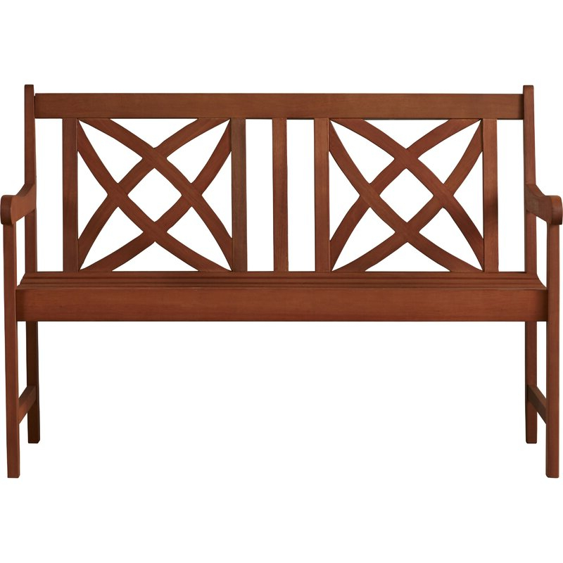 2019 Maliyah Wooden Garden Benches Regarding Maliyah Wooden Garden Bench (View 9 of 20)