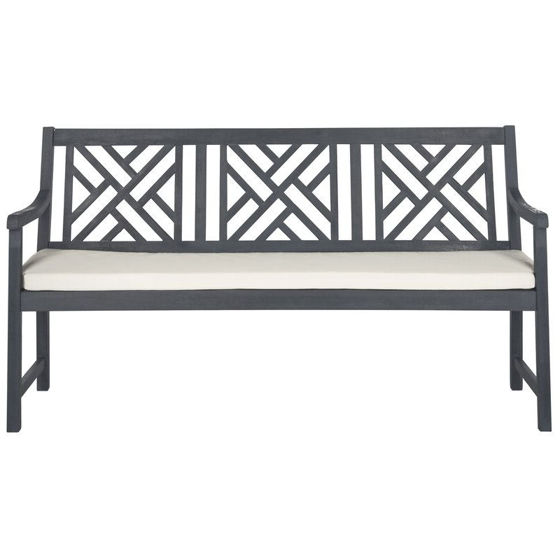 2019 Stanwich Acacia Garden Bench In Gehlert Traditional Patio Iron Garden Benches (View 11 of 20)