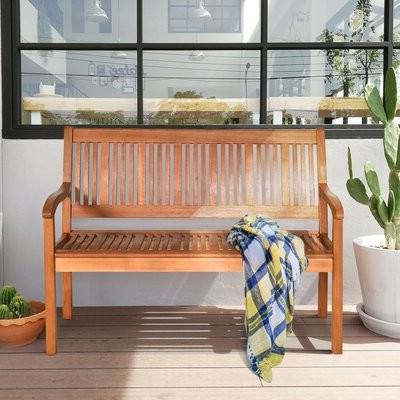 2019 Vetter Outdoor Wooden Garden Bench Pertaining To Ahana Wooden Garden Benches (View 15 of 20)