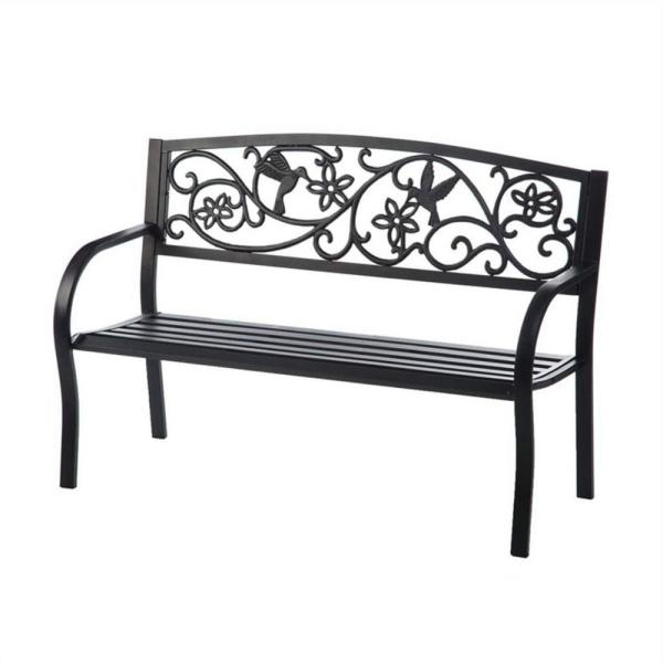 2020 Blooming Iron Garden Benches Throughout 50 In (View 8 of 20)