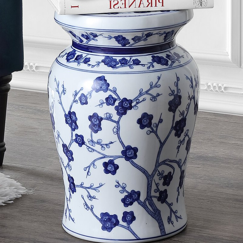 2020 Brasstown Lucky Coins Chinese Ceramic Garden Stools Throughout Wiese Cherry Blossom Ceramic Garden Stool (View 16 of 20)