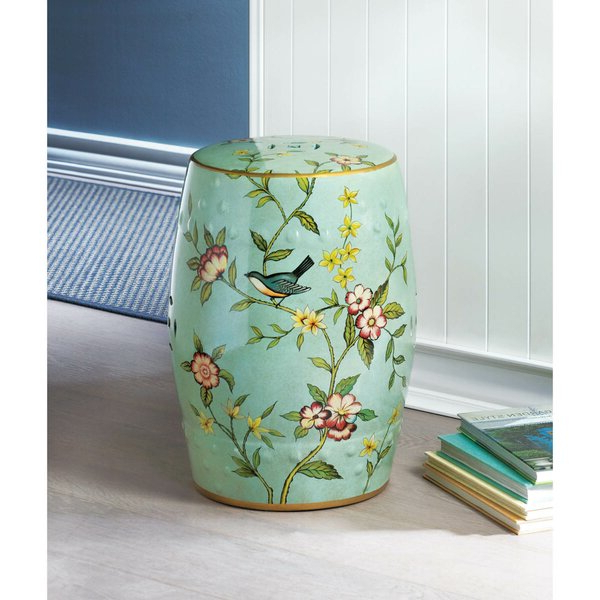 2020 Floral Stool Within Tufan Cement Garden Stools (View 9 of 20)