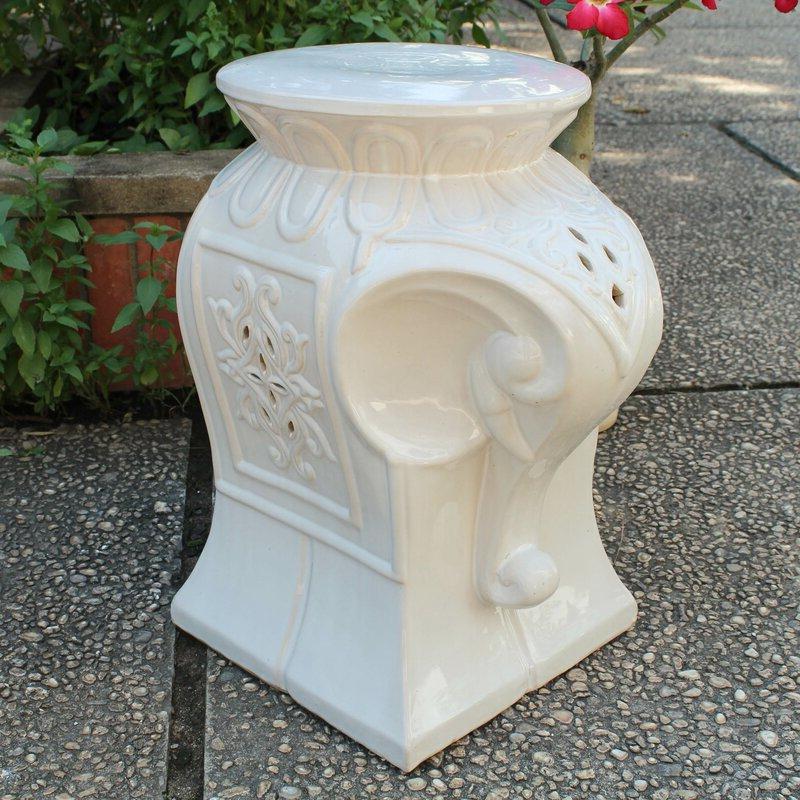 2020 Karlov Ceramic Garden Stools Within Burleson Elephant Ceramic Garden Stool (View 14 of 20)