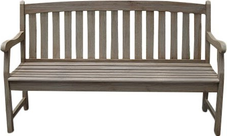 2020 Strasburg Blossoming Decorative Iron Garden Benches Intended For Beachcrest Home Monterry Wooden Garden Bench (View 11 of 20)