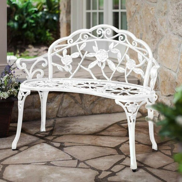 6 Foot Outdoor Bench For Most Popular Strasburg Blossoming Decorative Iron Garden Benches (View 13 of 20)