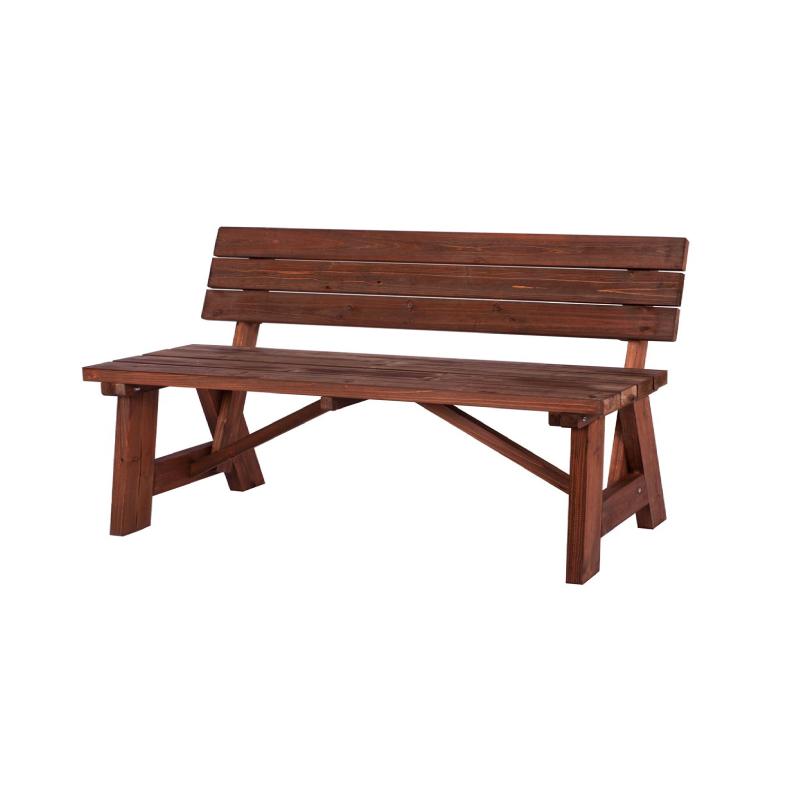 Abbey 2seater Wooden Fir – Walnut Garden Bench Inside Well Known Walnut Solid Wood Garden Benches (View 3 of 20)