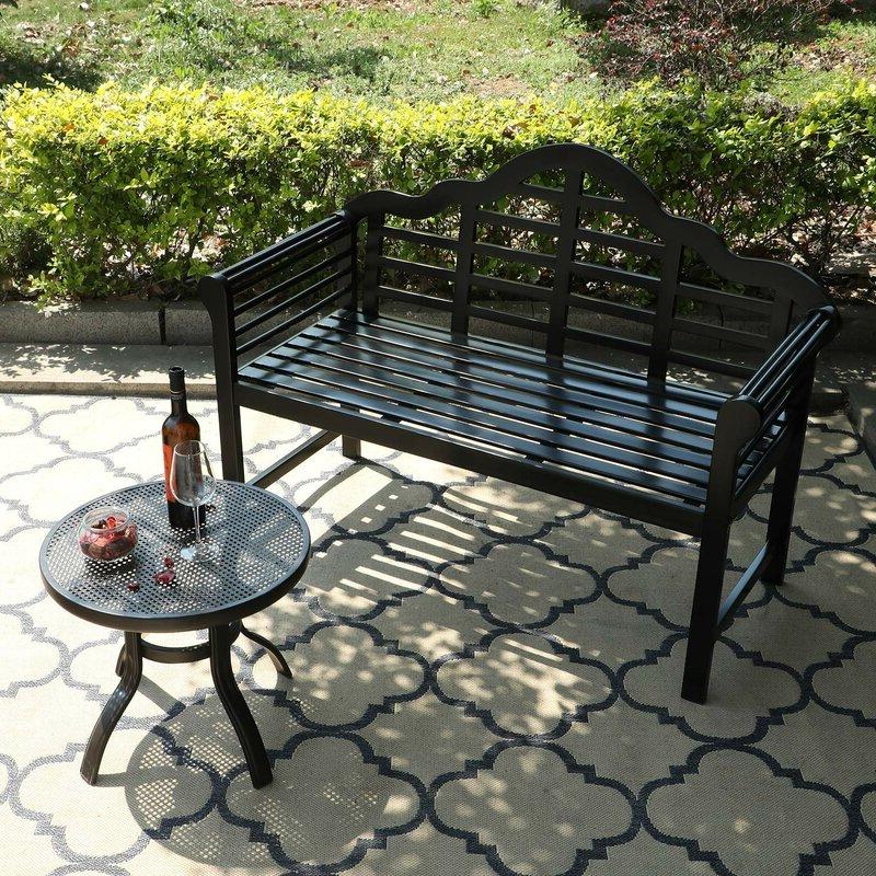 Ahana Wooden Garden Benches Regarding 2019 Ahana Wooden Garden Bench (View 3 of 20)