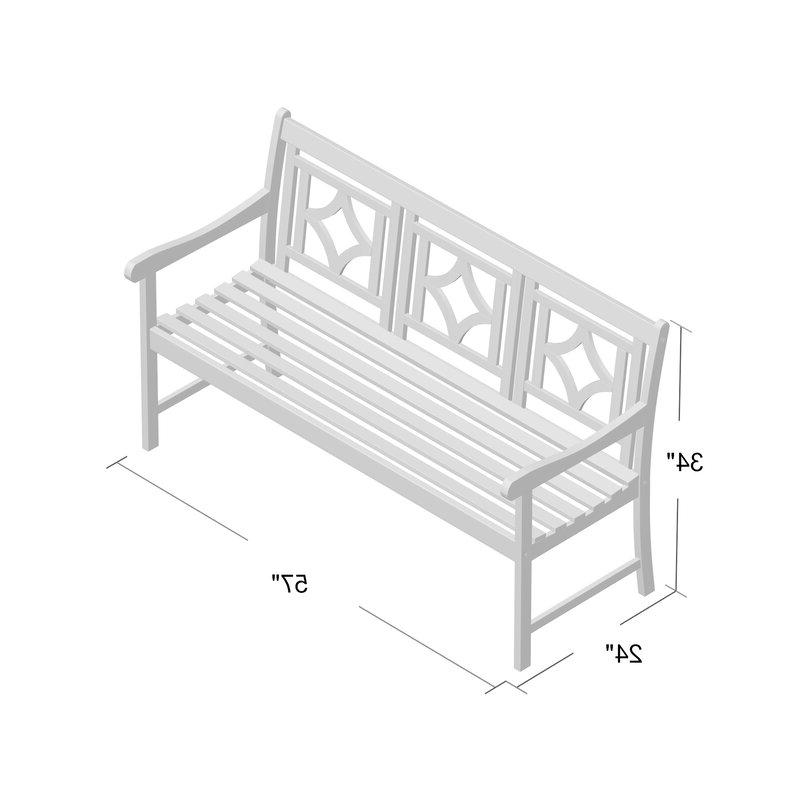 Amabel Patio Diamond Wooden Garden Bench With Famous Amabel Patio Diamond Wooden Garden Benches (View 5 of 20)