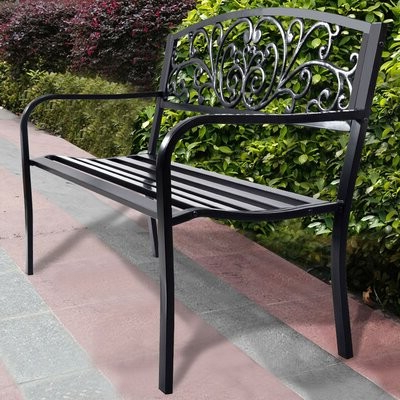 Annemary Park Steel Garden Bench For 2020 Zev Blue Fish Metal Garden Benches (View 15 of 20)