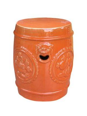 Antique Medallion Garden Stoolemissary On Gilt Home Regarding Preferred Aloysius Ceramic Garden Stools (View 18 of 20)