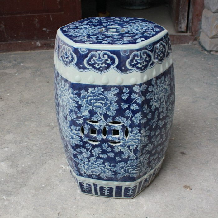 Antique Stool For Dressing Table Stool Chinese Porcelain Garden Stool Ceramic Jingdezhen Blue And White Dragon Stool For Garden (View 18 of 20)
