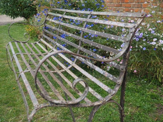 Best And Newest Antique Wrought Iron 4 Seater Garden Bench Intended For Blooming Iron Garden Benches (View 10 of 20)