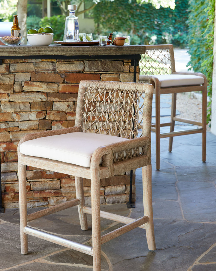 Best And Newest Bracey Garden Stools Pertaining To Palecek Montecito Outdoor Counter Stool (View 18 of 20)