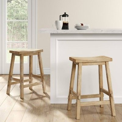 Best And Newest Harwich Ceramic Garden Stools In Halifax Farmhouse Wood Counter Stool Natural Wood (View 20 of 20)