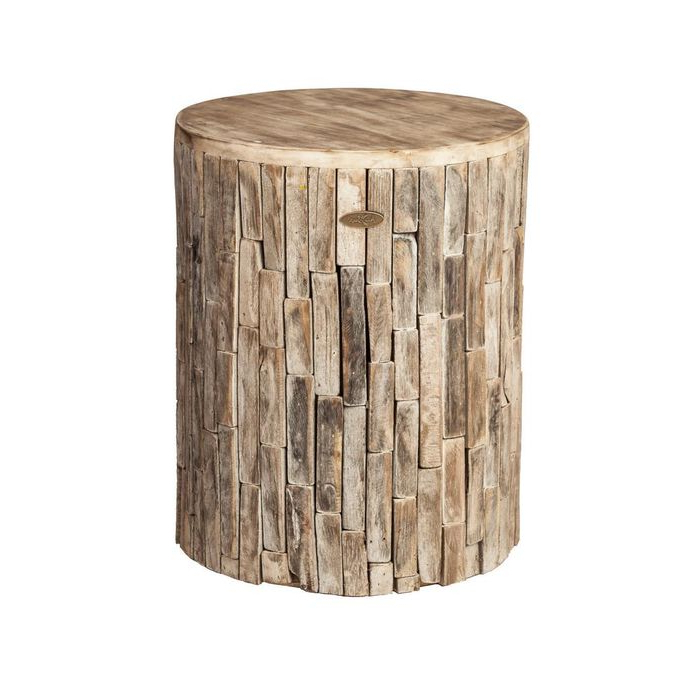 Best And Newest Patio Sense Elyse Round Wood Outdoor Garden Stool – Home Depot In Amettes Garden Stools (View 15 of 20)