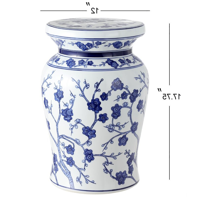 Featured Photo of Wiese Cherry Blossom Ceramic Garden Stools