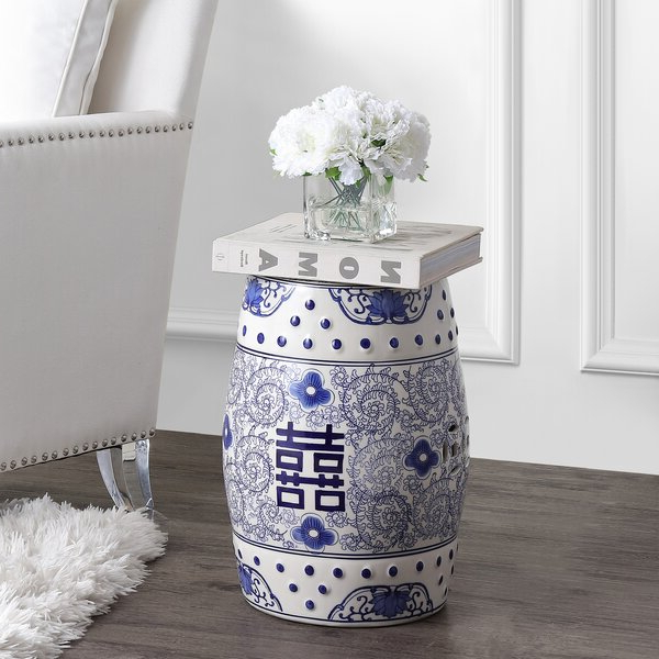 Bonville Ceramic Garden Stools In Well Liked Galliher Double Happiness Chinoiserie Ceramic Garden Stool (View 14 of 20)