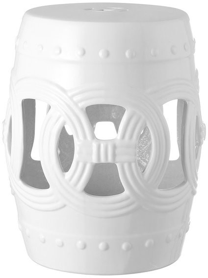 "Bonville Ceramic Garden Stools Within Most Up To Date Lucky Coins 16"" Chinese Ceramic Drum Garden Stool, White (View 13 of 20)"