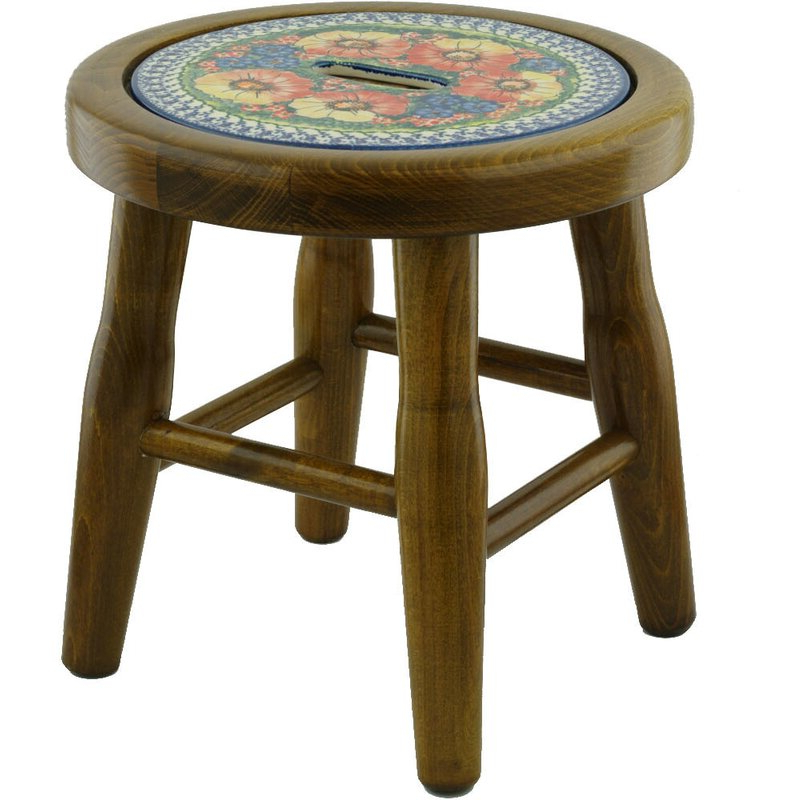 Bracey Garden Stools For Popular Mystical Garden Polish Pottery Accent Stool (View 9 of 20)