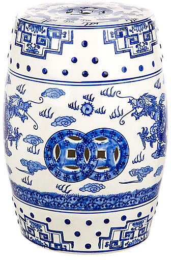 Brasstown Lucky Coins Chinese Ceramic Garden Stools Throughout Most Current Dragon's Breath Garden Stool – Blue (View 10 of 20)