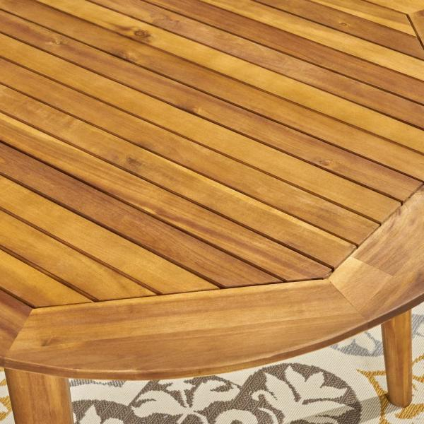 Brecken Teak Garden Benches Intended For 2019 Noble House Elderon Teak Brown 7 Piece Wood And Multi Brown (View 19 of 20)