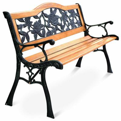 Cast Iron Frame – Outdoor Benches – Patio Chairs – The Home In Most Popular Alvah Slatted Cast Iron And Tubular Steel Garden Benches (View 14 of 20)