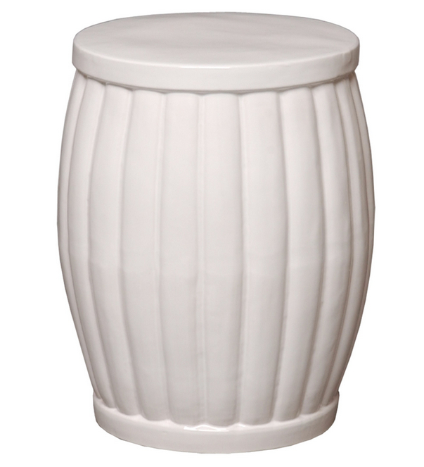 Ceramic Garden Stools Within Fashionable Fluted Ceramic Garden Stool (View 13 of 20)