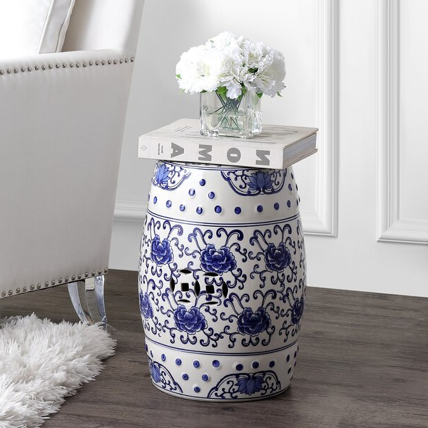 Chinoiserie Garden Stool Pertaining To Favorite Brasstown Lucky Coins Chinese Ceramic Garden Stools (View 7 of 20)