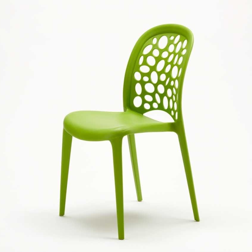 Colored Polypropylene Chair For Garden (View 7 of 20)