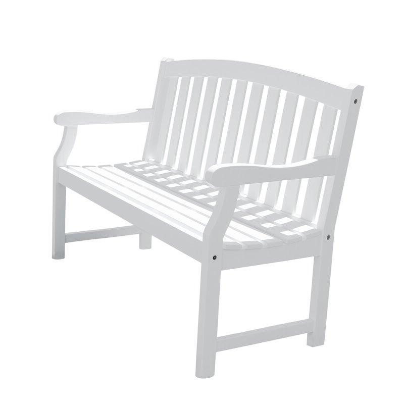 Current Leora Wooden Garden Benches Pertaining To Delaplaine Wooden Garden Bench (View 15 of 20)