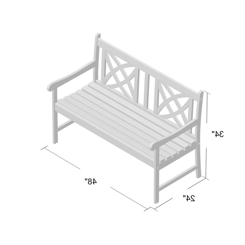 Current Maliyah Wooden Garden Bench With Maliyah Wooden Garden Benches (View 10 of 20)