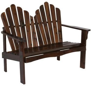 Current Tillie Wooden Garden Bench Color: Burnt Brown In Harpersfield Wooden Garden Benches (View 20 of 20)