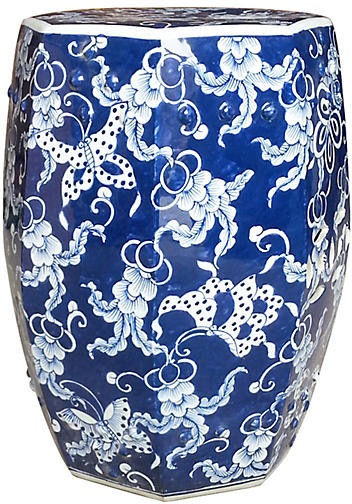 Current Wiese Cherry Blossom Ceramic Garden Stools For Hexagonal Butterfly Garden Stool – Blue (View 8 of 20)