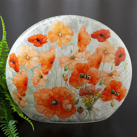 Current Wild Poppies Glass Accent Light With Regard To Wilde Poppies Ceramic Garden Stools (View 9 of 20)