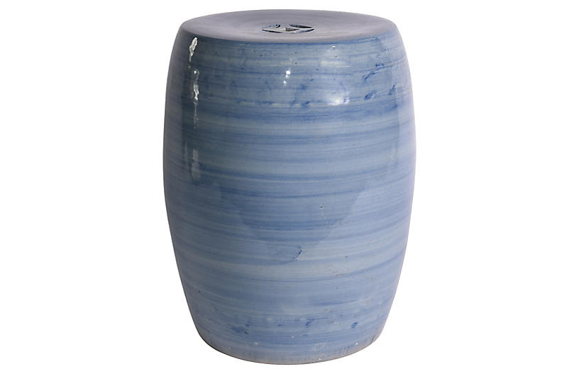 Denim Ombré Garden Stool, Blue – Poolside Style – Outdoor Inside Trendy Tillia Ceramic Garden Stools (View 14 of 20)