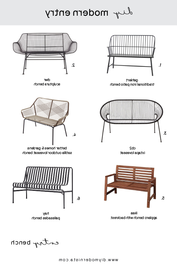 Diy Throughout Trendy Gehlert Traditional Patio Iron Garden Benches (View 18 of 20)