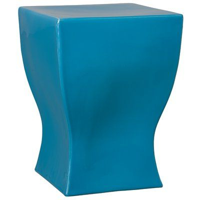 Ebern Designs Brigida Square Garden Stool Colour: Turquoise Pertaining To Well Known Brode Ceramic Garden Stools (View 14 of 20)