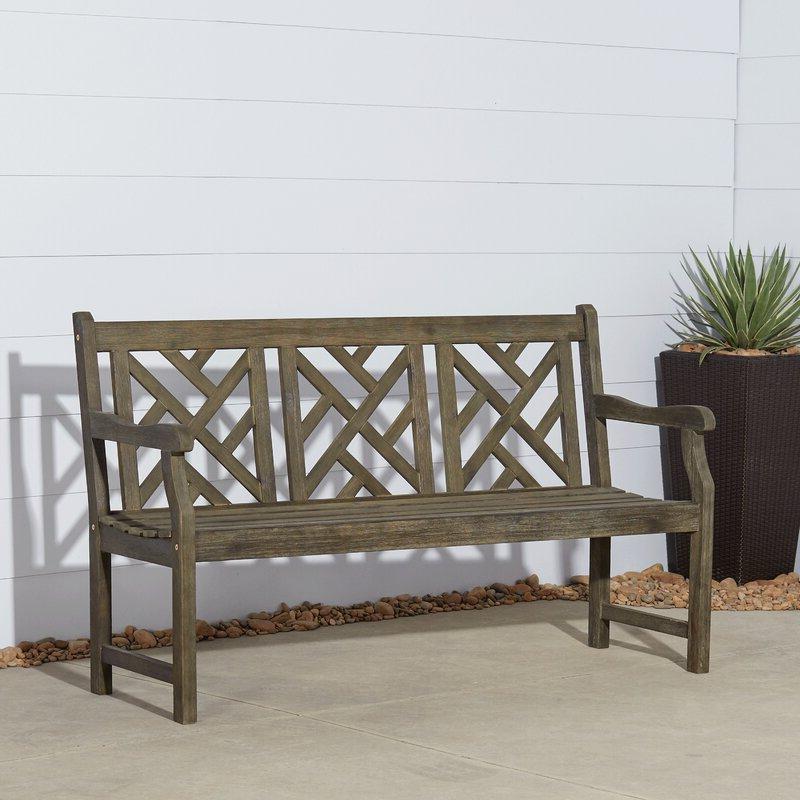Elsner Acacia Garden Benches Throughout Latest Three Posts™ Elsner Acacia Garden Bench (View 8 of 20)