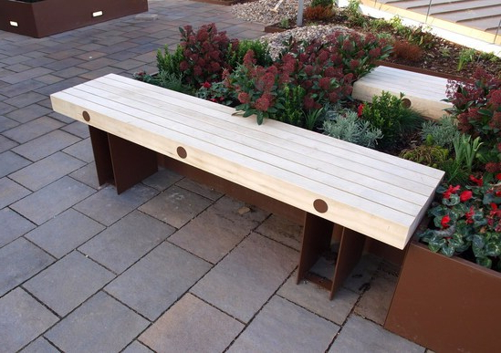 Exeter Benches For Rooftop Garden In Central London Inside Well Known Pauls Steel Garden Benches (View 20 of 20)