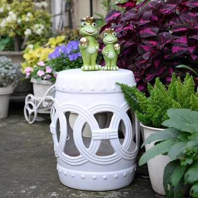 Famous Harwich Ceramic Garden Stool Color: White Regarding Middlet Owl Ceramic Garden Stools (View 11 of 20)