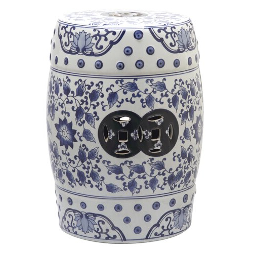 Famous Irwin Blossom Garden Stools Pertaining To Murphy Ceramic Garden Stool (View 5 of 20)