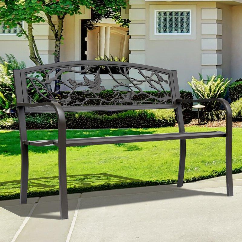 Featured Photo of Madeline Vintage Bird Cast Iron Garden Benches