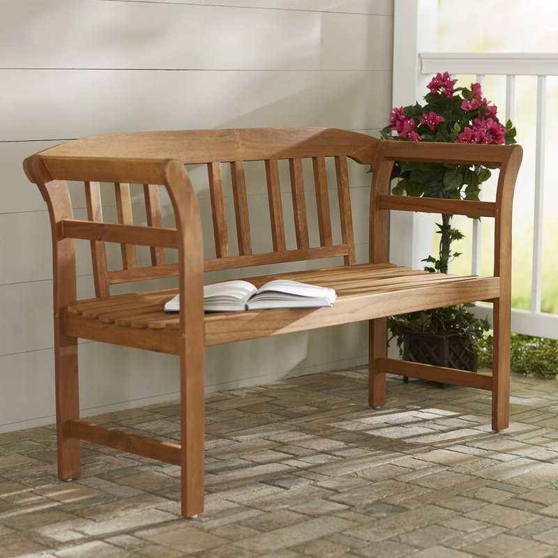 Famous Skoog Chevron Wooden Garden Benches With Archdale 2 Seat Wooden Garden Bench (View 16 of 20)
