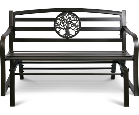 Famous Steel Glider With Tree Of Life Design – T70 Fdgc1603 Inside Tree Of Life Iron Garden Benches (View 11 of 20)