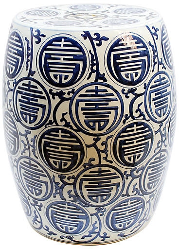 Famous Wiese Cherry Blossom Ceramic Garden Stools In Sucre Garden Stool – Blue/white (View 11 of 20)