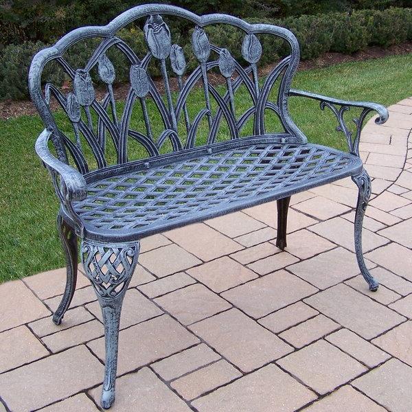 Farrior Aluminum Garden Bench Inside Recent Montezuma Cast Aluminum Garden Benches (View 9 of 20)